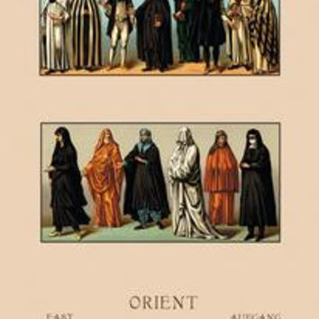 "Variety of Dress from the Orient: Paper poster printed on 12"""" x 18"""" stock."