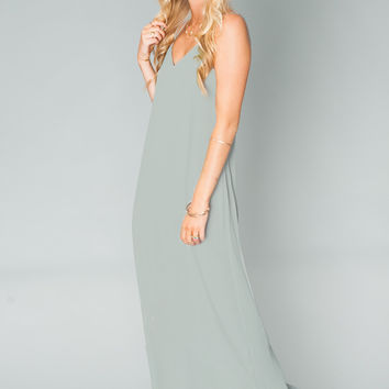 Show Me Your mumu Jolie Maxi Dress ~ Silver Sage