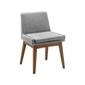 "Modern Scandinavian Design ""Chanel"" Cocoa & Pebble Grey Dining Chair"