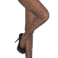 Glow In The Dark Spider Web Pantyhose
