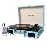 Crosley - Cruiser Portable Turntable - Turquoise