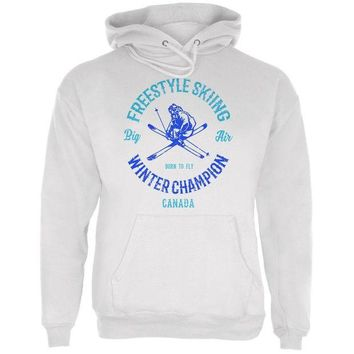 DCCKU3R Winter Games Freestyle Skiing Champion Canada Mens Hoodie