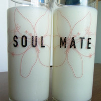 SoulMate™ His and Hers Drinking Glasses,His and Hers Gifts,Boyfriend Girlfriend Gifts,Couple Gifts,Valentines Gifts,Wedding Glasses