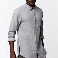 On The Byas Doc Half Placket Long Sleeve Button Up Shirt - Mens Shirt