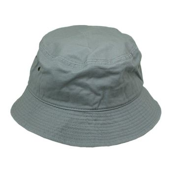 Men Women 100% Cotton Fishing BUCKET HAT CAP Boonie Brim visor Sun Safari GRAY
