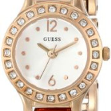 Guess Petite Glitz White Dial Rose Gold-tone Ladies Watch U0411L3