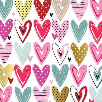 Bulk Ream Roll Love Gift Wrap Wrapping Paper, Pretty Hearts