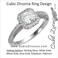 Cubic Zirconia Engagement Ring- The Marcee
