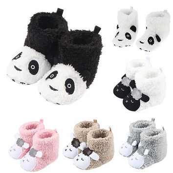 Winter Cute Lamb Animal Style Baby Boots Infant Boys Girl Fleece Warm Shoes Baby Soft Anti Slip First Walkers Toddler Shoes