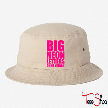 Big Neon Letters bucket hat