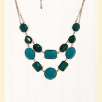 Set in Stone Necklace in Turquoise - Francesca's Collections
