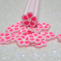 Pink polymer clay cane flower 1pcs for miniature foods decoden and nail art supplies