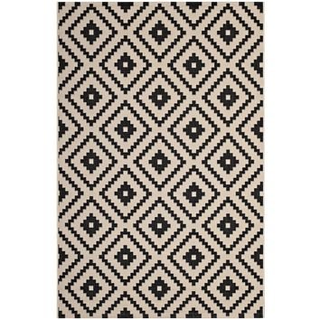 Perplex Geometric Diamond Trellis 8x10 Indoor and Outdoor Area Rug