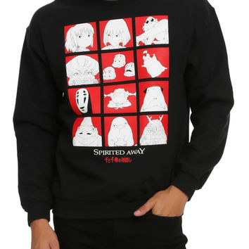 Studio Ghibli Spirited Away Grid Crew Pullover