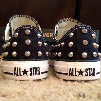 Studded Converse Shoes FULLY STUDDED by DonishDesigns on Etsy