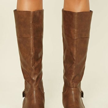 Tall Faux Leather Boots