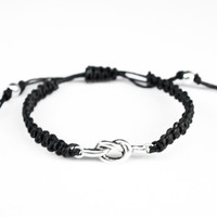 Knot Hemp Bracelet Black Friendship