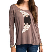O'Neill Daisy Moon T-Shirt - Long-Sleeve - Women's Deep Taupe,