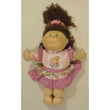 Cabbage Patch BF456 Vintage First Edition Baby Doll Plastic Fabric -- Used