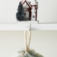 Snowy Townhouse Stocking Holder