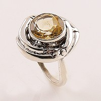 Citrine Sterling Silver Nest Ring