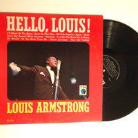 FALL SALE Louis Armstrong Hello, Louis LP Album 1969 Stormy Weather Sweet Lorraine Vinyl Record Jazz