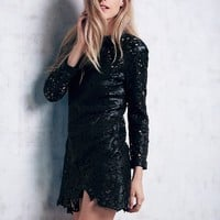 Free People Devils Rose Leather Dress