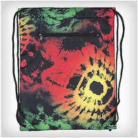 Rasta Tie Dye Cooler Cinch Bag - Spencer's