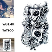 19X12CM Sexy Body Art Beauty Makeup Large Waterproof Temporary Arm Tattoos 3d Henna Tattoo sticker For Girls And Man MX-2074