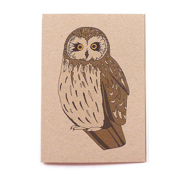 short-eared owl card (100% recycled)