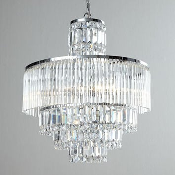 Designer Cords Rossborough 8-Light Crystal Chandelier & Cord Cover