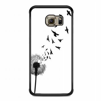 dandelion bird tattoo For samsung galaxy s6 edge case