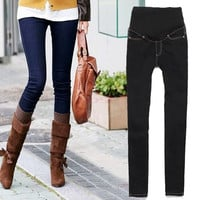 Women's Maternity Adjustable Waistband Skinny Pants Jeans Long Trousers Jeans clothes 19812 = 1929934276