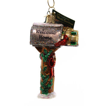 Old World Christmas WELCOME HOME MAILBOX Ornament Post Office Letter 32079