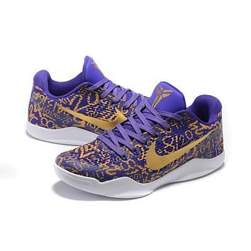 Nike Kobe Xi Elite Purple/gold Basketball Trainers Size Us7-12 - Beauty Ticks