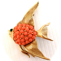 Vintage Trifari Fish Brooch