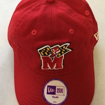 MARYLAND TERRAPINS NEW ERA YOUTH SIZE ADJUSTABLE HAT SHIPPING