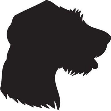 German Rough-haired Pointer Silhouette Dog Puppy Breed Long Die Cut Vinyl Transfer Decal Sticker