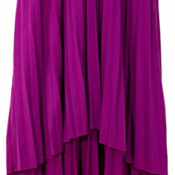 Purple Flair Pleated Skirt