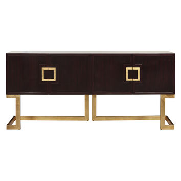 Braxton Rosewood Console in Gold Leaf