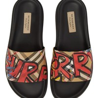 Burberry English Icons Check Slide Sandal (Women) | Nordstrom