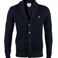 Vivienne Westwood Navy Cotton Cardigan