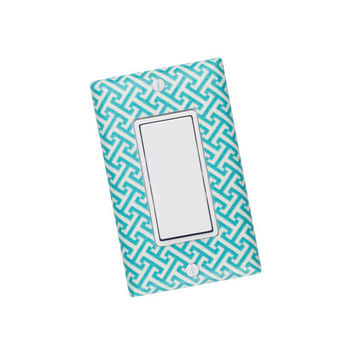 Aqua Room Decor / Rocker Decora Light Switch Plate Cover / Nursery Bedroom Dining Room / Gender Neutral