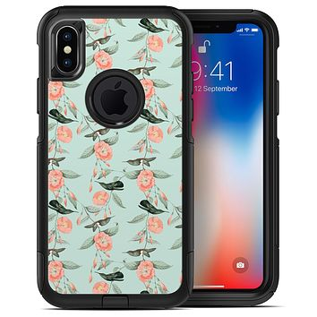 The Vintage Mint Floral Hummingbird  4 - iPhone X OtterBox Case & Skin Kits