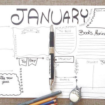 bullet journal january plan monthly bujo journaling calendar planner addict organize list agenda organizer notebook download lasoffittadiste