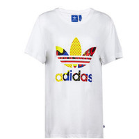 """Adidas""  Women  Fashion Pattern Letter Short Sleeve T-shirt"