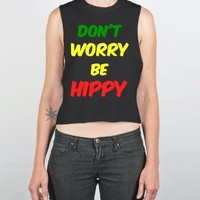 Be Hippy-Female Black Tank