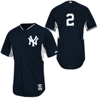 Derek Jeter New York Yankees 2014 Authentic On-Field BP Cool Base Performance Jersey - Navy Blue