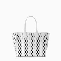 LARGE PERFORATED SHOPPER BAG
