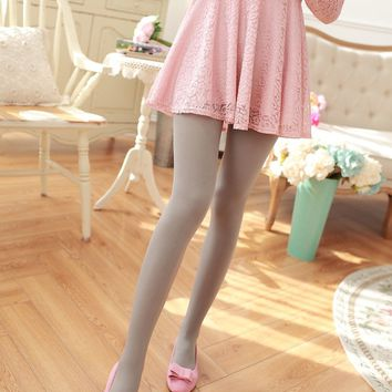 New Woman Tights High Elastic Autumn Solid Candy Color Collants velvet Pantyhose A High-Elastic Silk  Female Stockings
